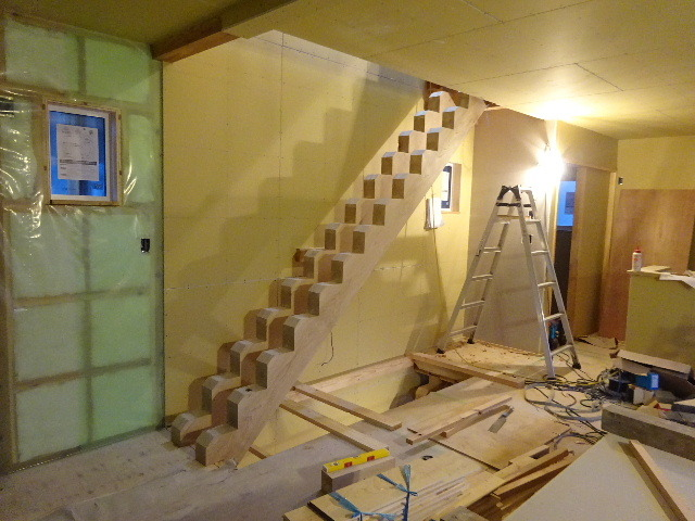 盛岡市本町通 地域材を使い大工の作る木造3階建住宅 大工工事進行中。_f0105112_04220769.jpg
