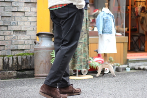 "「Jackman」FREEMAN別注 ""High-density Jersey Trousers\"" ご紹介_f0191324_08403542.jpg"