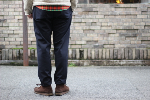 "「Jackman」FREEMAN別注 ""High-density Jersey Trousers\"" ご紹介_f0191324_08411760.jpg"
