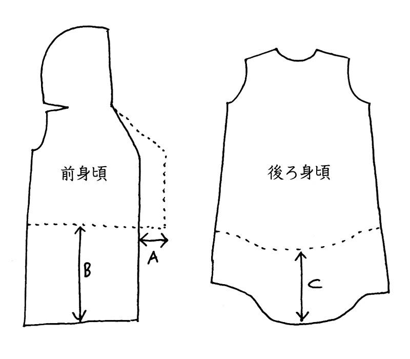 エスキモーコートを、ロング丈にアレンジする方法。_d0227246_10483766.jpg