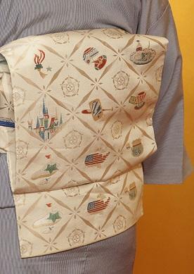 10周年・大切な形見の着物・記念のアメリカの帯・大連吟_f0181251_1910217.jpg
