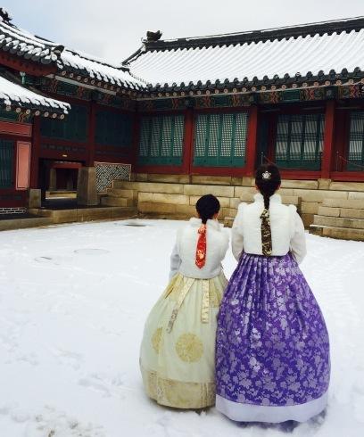 小学生連れソウル 6 「ビョルグント韓服」で雪でも楽しい韓服体験☆_f0054260_21493145.jpg