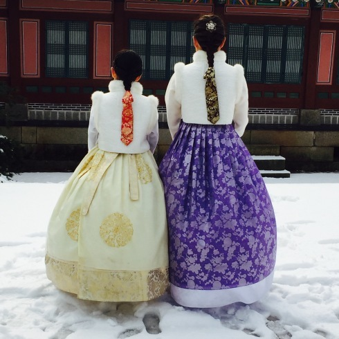 小学生連れソウル 6 「ビョルグント韓服」で雪でも楽しい韓服体験☆_f0054260_21530126.jpg