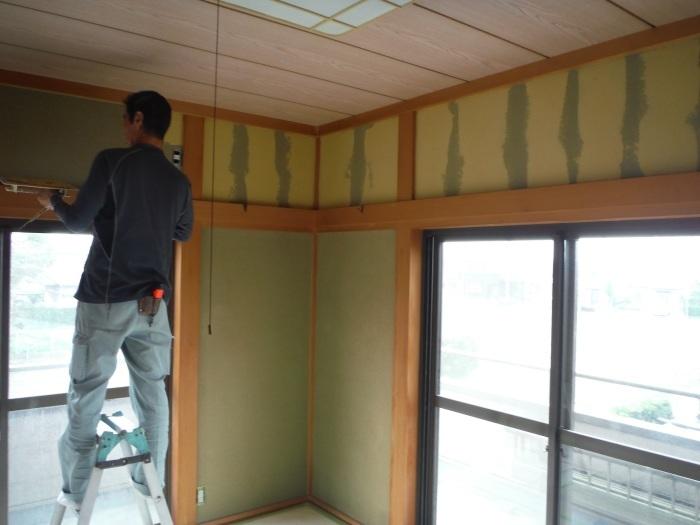 和室リフォーム ~ クロス張り、建具取替えで工事終了です。_d0165368_03393135.jpg