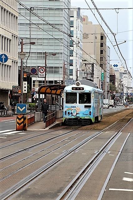 藤田八束の鉄道写真@高知市内を走る路面電車は便利なこと最高です。一日乗り放題600円で5分間隔で走っている・・・観光客は路面電車が嬉しい_d0181492_18210496.jpg