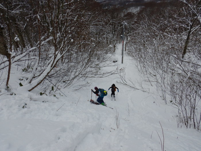 月山・志津~姥ヶ岳(シーズン初滑り) ~ 2018年11月25日_f0170180_20414033.jpg