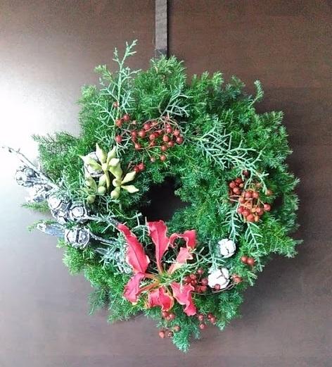 クリスマスリース2018_c0037814_16495466.jpg