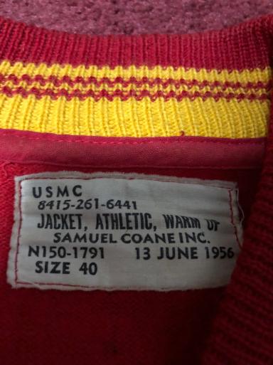 アメリカ仕入れ情報#14  50s U.S.M.C アスレチックジャケット!_c0144020_13005179.jpg