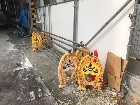 /// おもしろ単管バリケード発見 『大阪ならではのタイガース』No.28 ///_f0112434_16573591.jpg