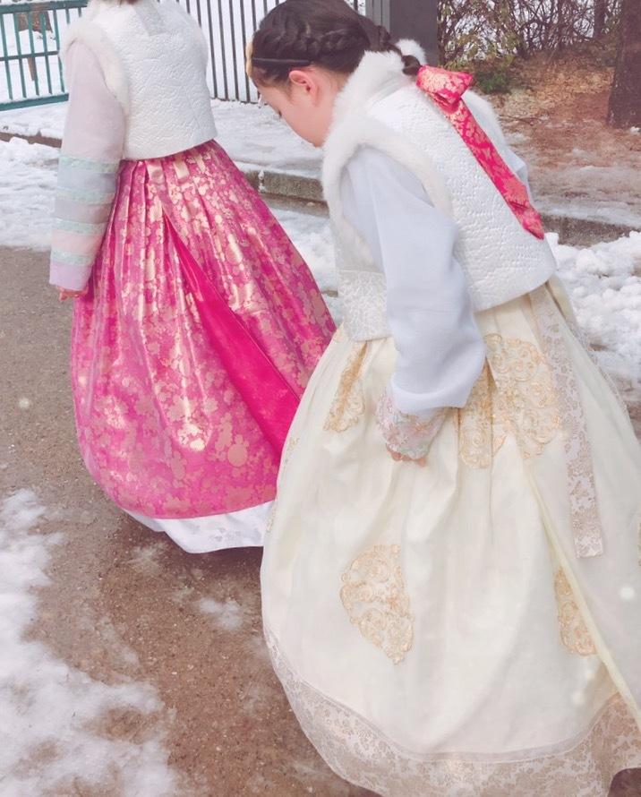 小学生連れソウル 6 「ビョルグント韓服」で雪でも楽しい韓服体験☆_f0054260_05431532.jpg