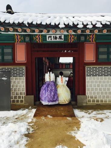 小学生連れソウル 6 「ビョルグント韓服」で雪でも楽しい韓服体験☆_f0054260_05442987.jpg