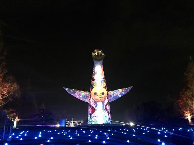 太陽の塔の夜。生駒~万博。_a0050302_00370682.jpg