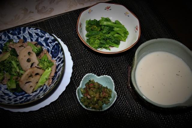 初物のブロッコリーで夕飯~♬_f0229190_10032468.jpg