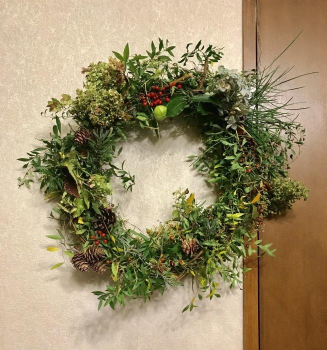 クリスマス・リース2018②_e0233674_21202430.jpeg