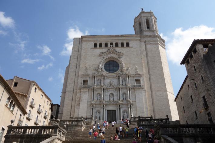 ジローナのカテドラル Cathedral of Girona サン・フェリウ教会 Basilica of Sant Feliu カタルーニャ地方 スペイン 2018年9月 バルセロナの旅(8)_f0117059_12454422.jpg