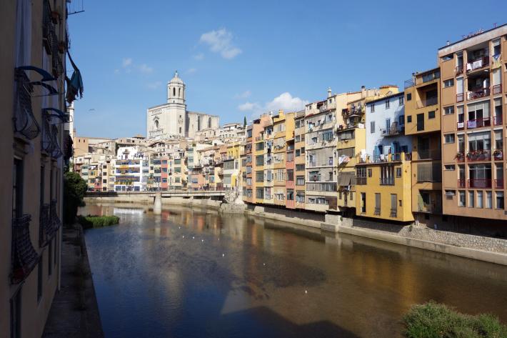 ジローナのカテドラル Cathedral of Girona サン・フェリウ教会 Basilica of Sant Feliu カタルーニャ地方 スペイン 2018年9月 バルセロナの旅(8)_f0117059_12454854.jpg