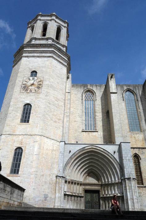 ジローナのカテドラル Cathedral of Girona サン・フェリウ教会 Basilica of Sant Feliu カタルーニャ地方 スペイン 2018年9月 バルセロナの旅(8)_f0117059_12455686.jpg