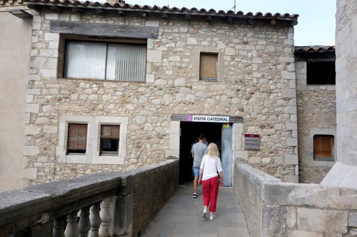 ジローナのカテドラル Cathedral of Girona サン・フェリウ教会 Basilica of Sant Feliu カタルーニャ地方 スペイン 2018年9月 バルセロナの旅(8)_f0117059_12461378.jpg