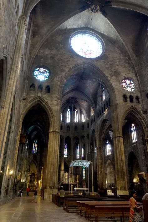 ジローナのカテドラル Cathedral of Girona サン・フェリウ教会 Basilica of Sant Feliu カタルーニャ地方 スペイン 2018年9月 バルセロナの旅(8)_f0117059_12462618.jpg