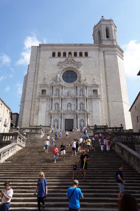 ジローナのカテドラル Cathedral of Girona サン・フェリウ教会 Basilica of Sant Feliu カタルーニャ地方 スペイン 2018年9月 バルセロナの旅(8)_f0117059_12465578.jpg