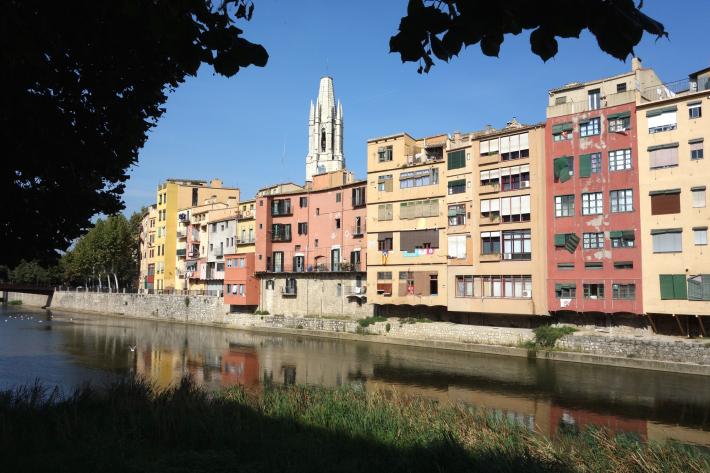 ジローナのカテドラル Cathedral of Girona サン・フェリウ教会 Basilica of Sant Feliu カタルーニャ地方 スペイン 2018年9月 バルセロナの旅(8)_f0117059_12480746.jpg
