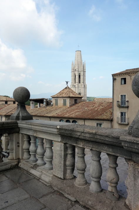 ジローナのカテドラル Cathedral of Girona サン・フェリウ教会 Basilica of Sant Feliu カタルーニャ地方 スペイン 2018年9月 バルセロナの旅(8)_f0117059_12482492.jpg