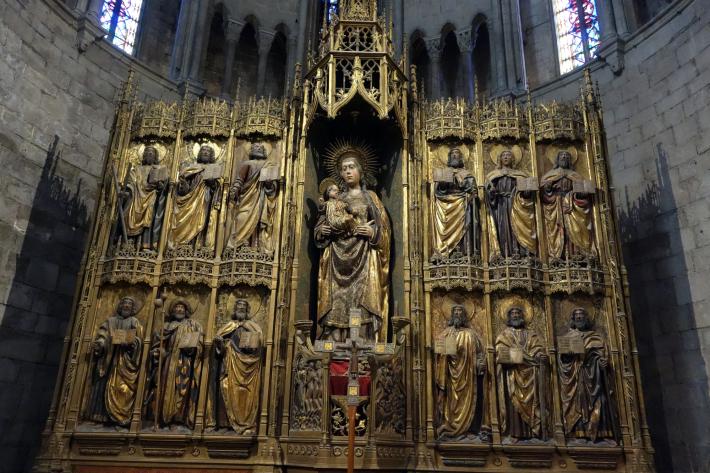 ジローナのカテドラル Cathedral of Girona サン・フェリウ教会 Basilica of Sant Feliu カタルーニャ地方 スペイン 2018年9月 バルセロナの旅(8)_f0117059_12491258.jpg