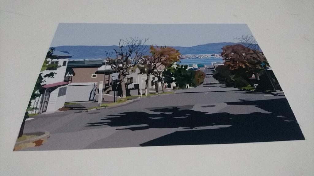 映画PとJK函館ロケ地の絵はがき。亀梨和也さんが活躍した場所がずらり。写真のように見えますが絵なんです!_b0106766_20471220.jpg