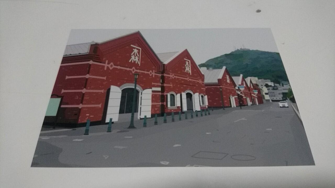 映画PとJK函館ロケ地の絵はがき。亀梨和也さんが活躍した場所がずらり。写真のように見えますが絵なんです!_b0106766_20471259.jpg