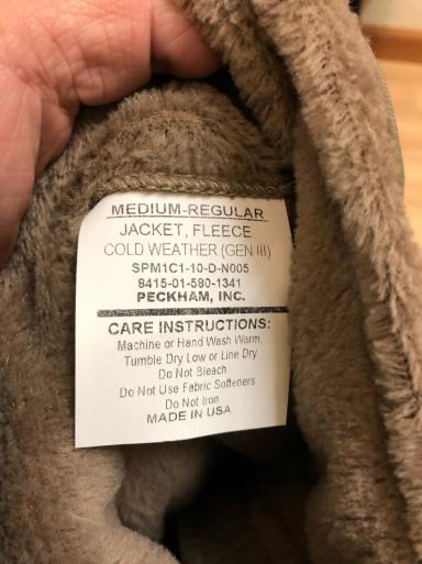 アメリカ仕入れ情報#29  新品 ECWCS Gen3 Polartec fleece JKT_c0144020_11400390.jpg