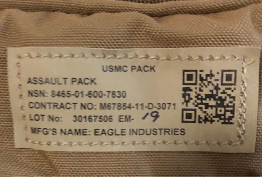 アメリカ仕入れ情報#30 USMC assault pack_c0144020_12094055.jpg