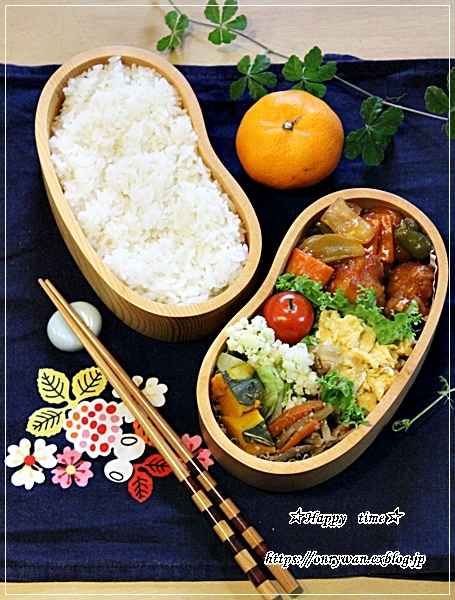 酢鶏弁当と12月のネイル♪_f0348032_17263153.jpg