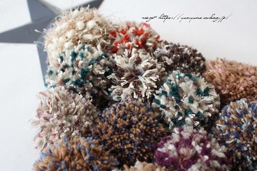 毛糸消費目的で量産したポンポンで手作りのクリスマスツリーに♪(作り方紹介中)_f0023333_23000964.jpg