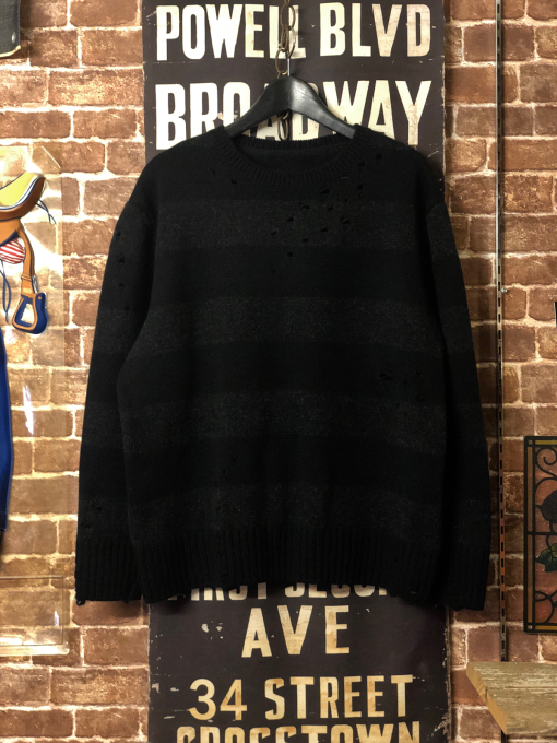 THREEFACE 'border knit' black x light black_a0208155_21023614.jpg