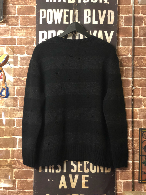 THREEFACE 'border knit' black x light black_a0208155_21024127.jpg