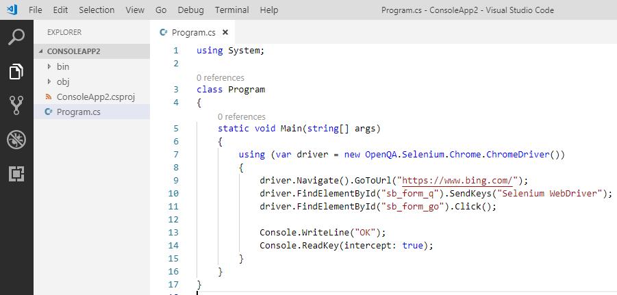 はじめての C# からの Selenium、そして NET Core ではエラーになる場合_d0079457_22335972.png