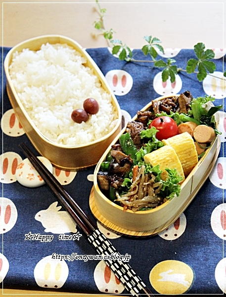 牛肉甘辛炒め弁当と今夜は寒いので♪_f0348032_18180218.jpg