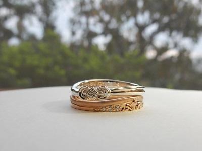 雪をイメージした結婚指輪と水引のペアリング オーダーメイド | 岡山_d0237570_15523283.jpg
