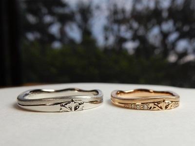 雪をイメージした結婚指輪と水引のペアリング オーダーメイド | 岡山_d0237570_15525821.jpg