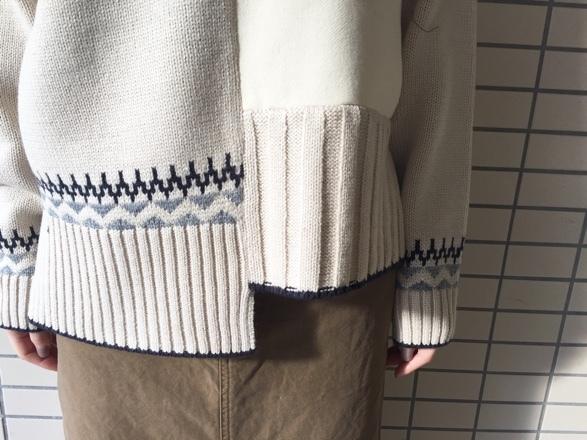 CYNICAL★柄切替knit★_e0269968_15013631.jpg