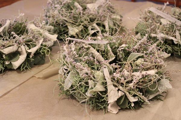 第16回 にのはこ時間 『シルバーリーフを集めた冬の white wreath 』joie.m_f0162302_21305585.jpg