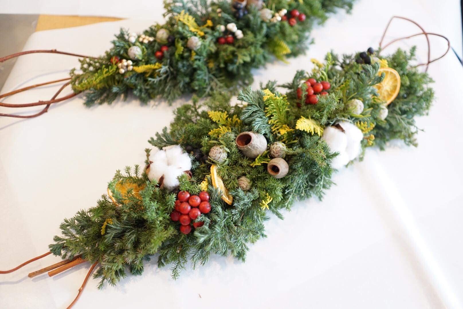 クリスマスガーランドワークショップ 無事終了いたしました」_a0325273_01395818.jpg