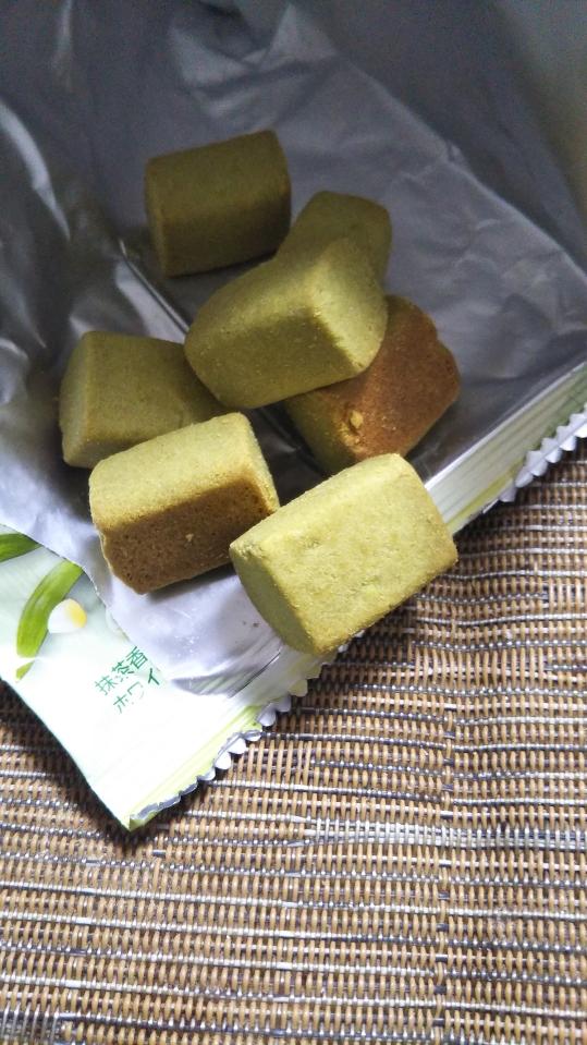 ひとくち豆乳クッキー 糖質50%off 抹茶味_f0076001_22114344.jpg