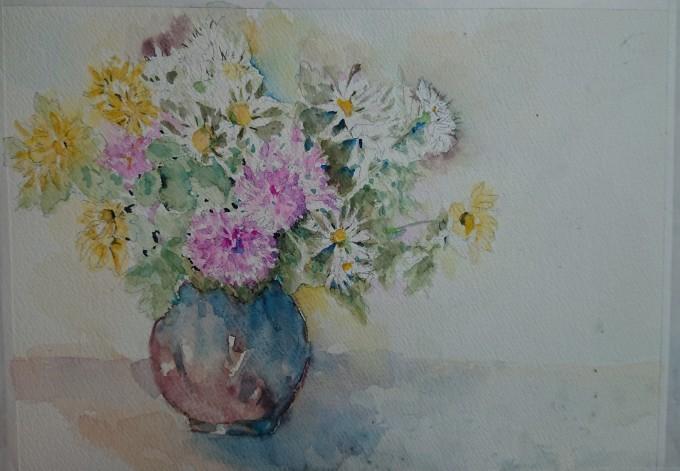 菊の水彩画_f0035506_18213914.jpg