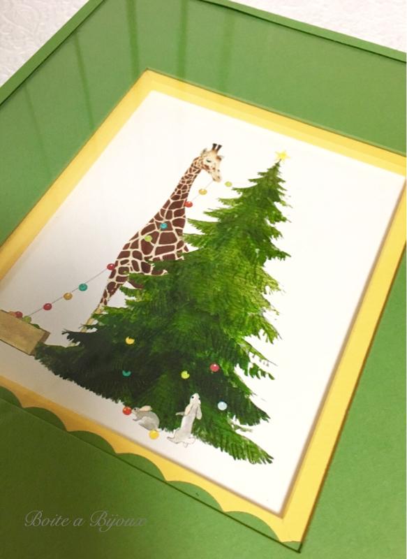 クリスマスの額装_d0286255_09152909.jpg