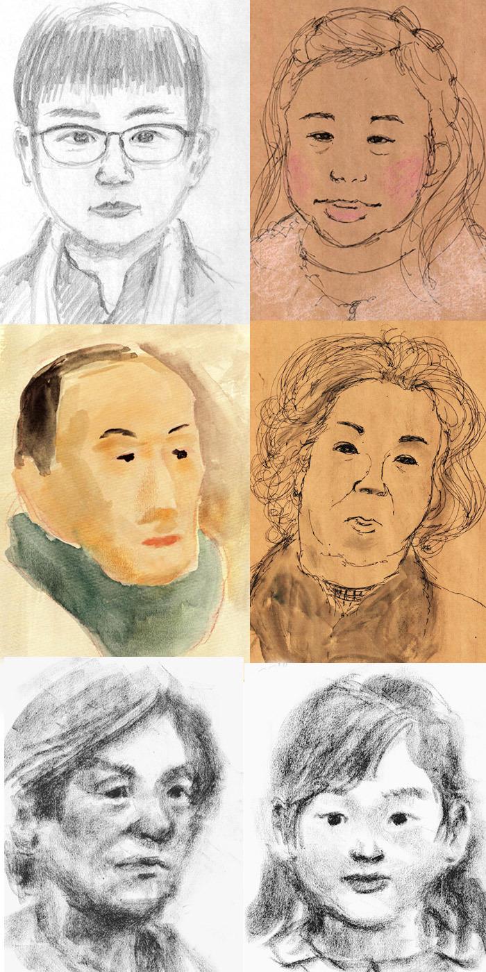 ミニ展示会最終日の似顔絵会から その2_a0037907_07572805.jpg