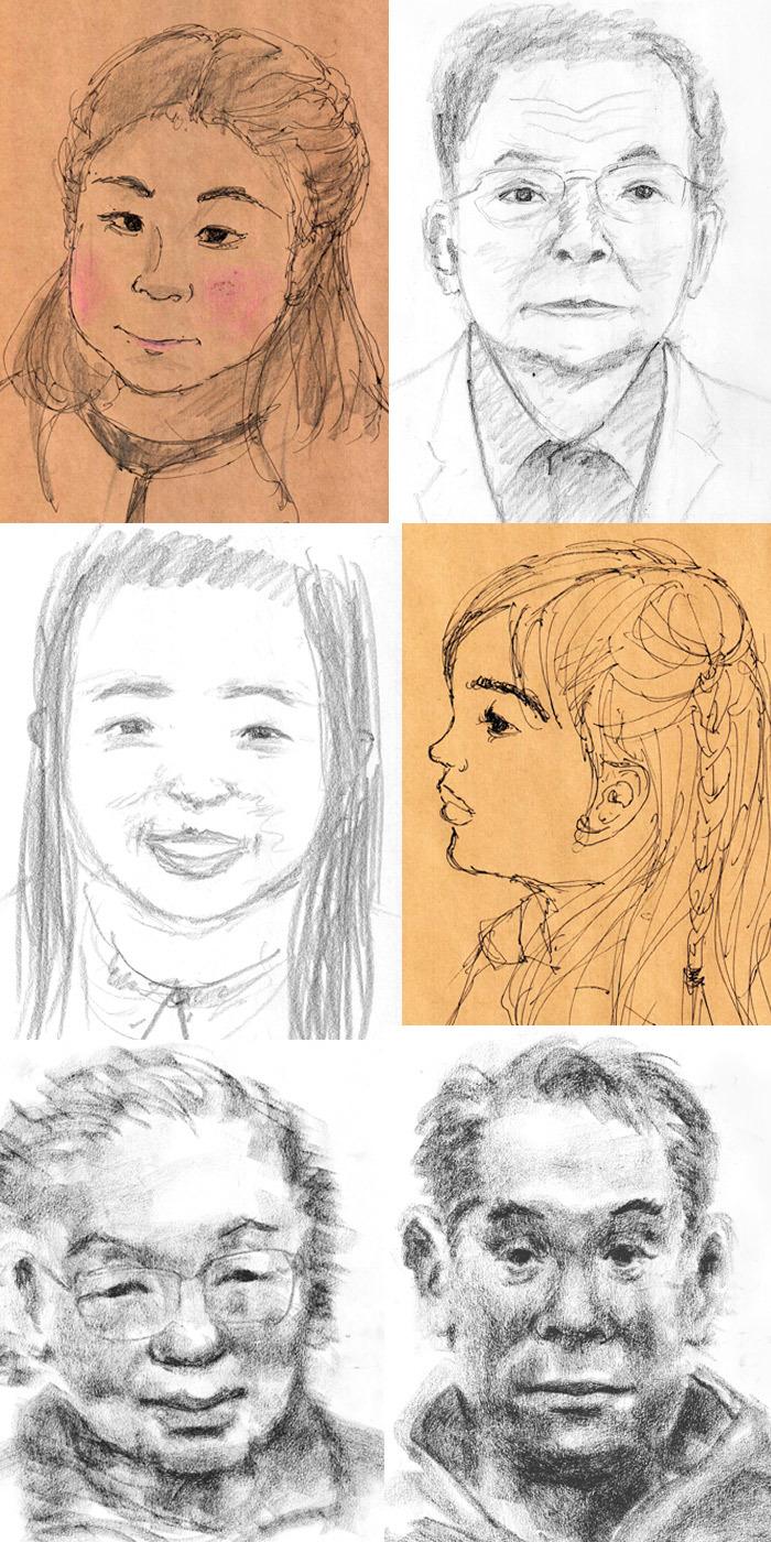 ミニ展示会最終日の似顔絵会から その2_a0037907_07572897.jpg