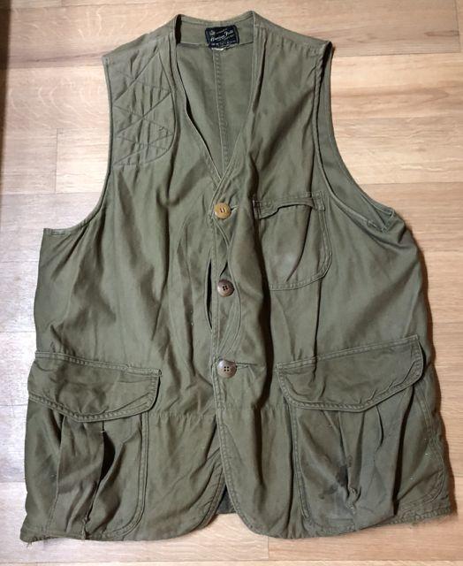 アメリカ仕入れ情報#43 12/22入荷! 50s ハーフムーン American Field Hunting Vest  ハンティング ベスト_c0144020_13425882.jpg