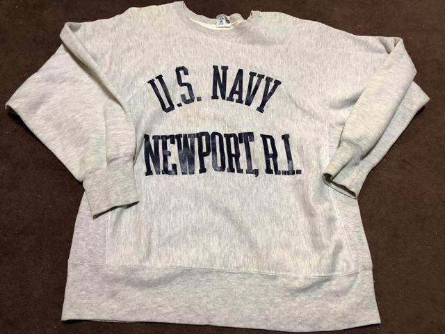 アメリカ仕入れ情報#45 12/22入荷!80s U.S NAVY NEWPORT BEACH チャンピオン リバースウィーブスエット!_c0144020_13562454.jpg