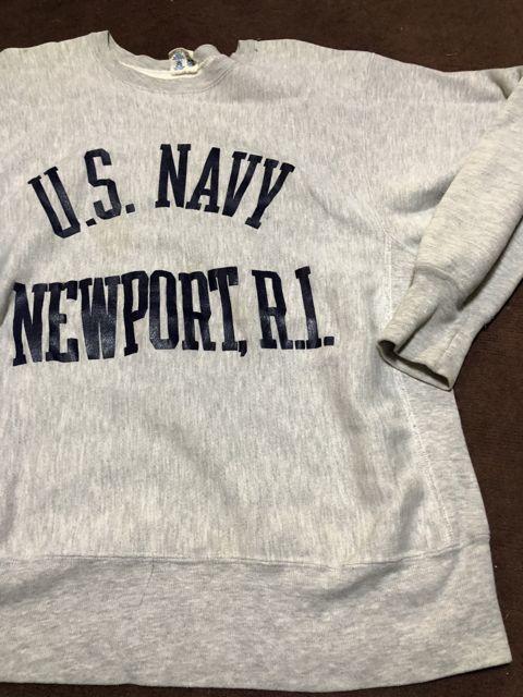 アメリカ仕入れ情報#45 12/22入荷!80s U.S NAVY NEWPORT BEACH チャンピオン リバースウィーブスエット!_c0144020_13562694.jpg